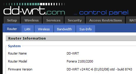 DD-WRT on La Fonera